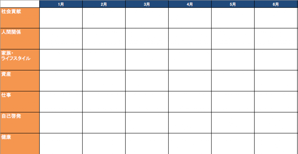年間計画シート