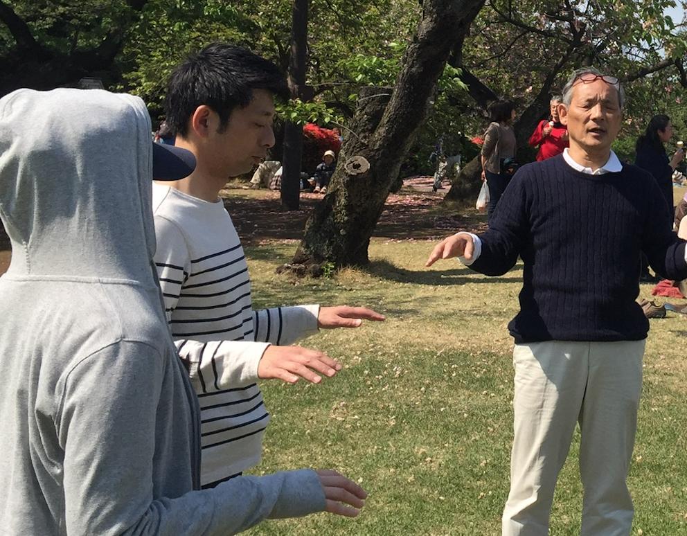 福田ゴンベイマインドフルネス気功整体修練新宿御苑
