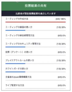 Zoom投票アンケート結果を共有する