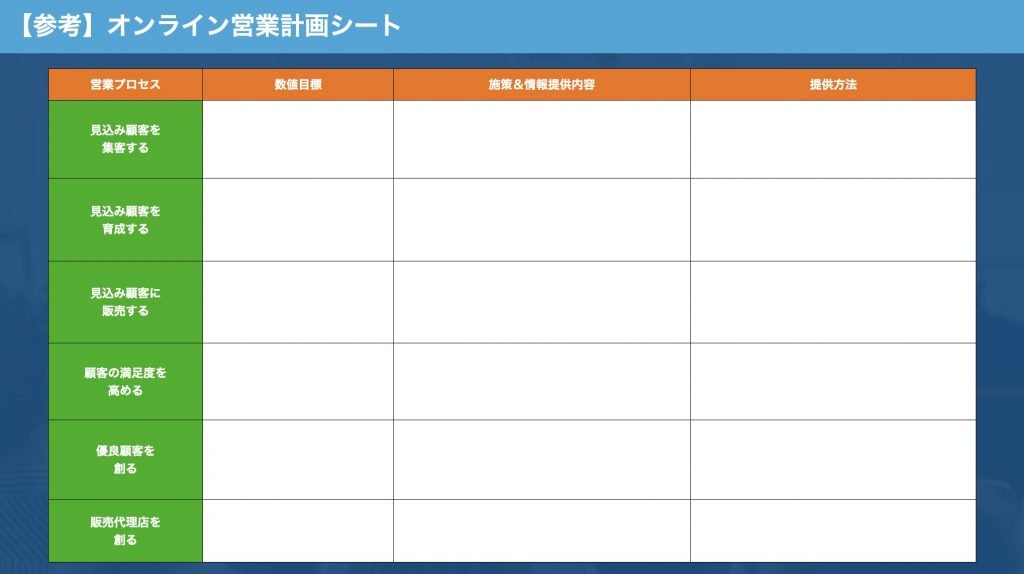 オンライン営業計画シート