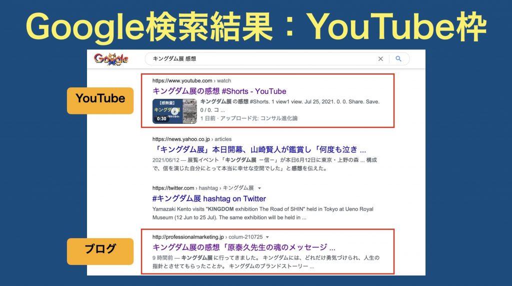 YouTubeSEO検証③YouTube枠